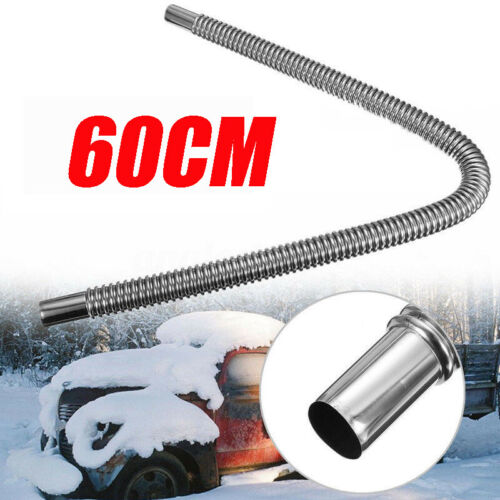 25mm//60cm Stainless Steel Exhaust Pipe Parking Air Heater Tank Diesel Gas Vent