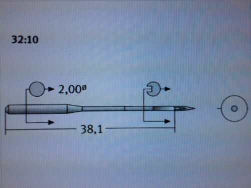 SCHMETZ DPX35 134-35 R SIZE 90//14  WALKING FOOT INDUSTRIAL SEWING MACHINE NEEDLE