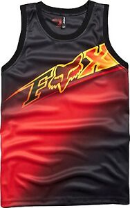 c661c0287d704 New Adult Mens Fox Racing Black Red Elecore Polyester Jersey Tank ...