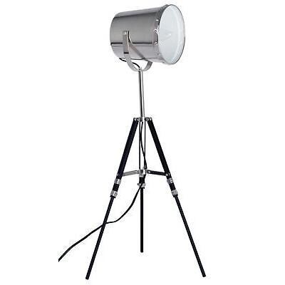 Grundig Designer trépied lampe de table avec chrome brossé métal théâtre