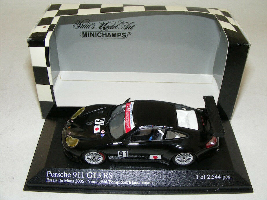 1 43 Minichamps Porsche 911 GT3 RSR from 2005 Lemans Practice car