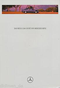 Mercedes-W-124-E-200-Coupe-Prospekt-1995-1-95-brochure-Autoprospekt-broschyr-PKW