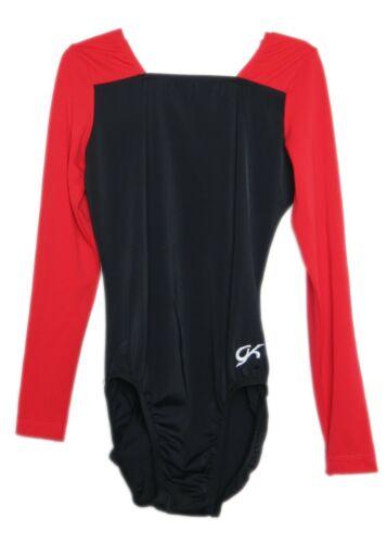 AXS Adult Extra Small 4141 GK Elite Black//Red Gymnastics Leotard
