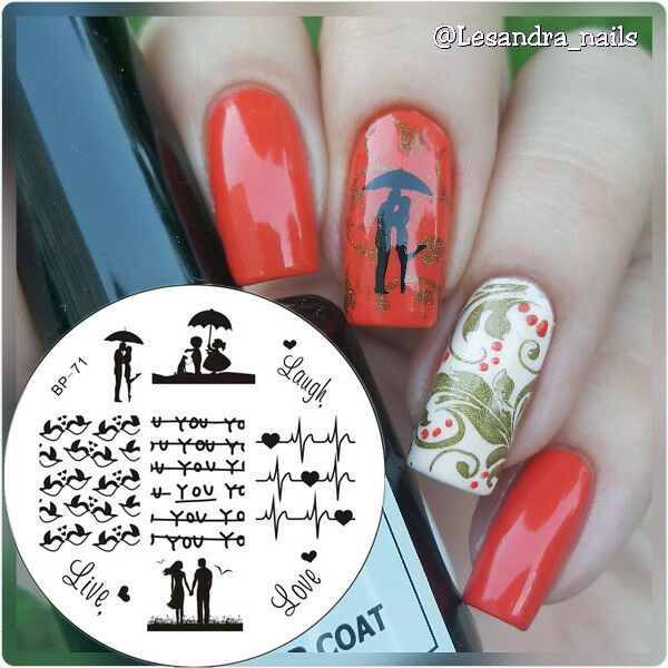 BORN PRETTY Nagel Stempel Schablone Nail Art Stamp Stamping Template Plates DIY