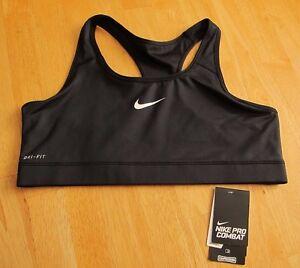 aab0aaf3e4c65 Details about Nike Dri-Fit Pro Combat Sports Bra Compression 410631 Black  XL CrossFit Yoga