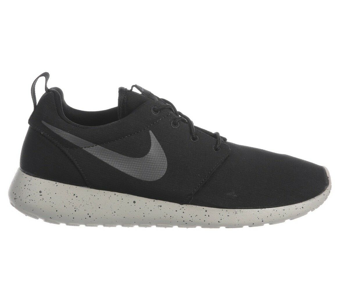 Nike Roshe One SE Mens 844687-009 Black Grey Speckle Running Shoes Size 12