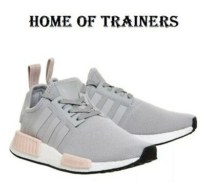 various colors 795c0 e72fc ADIDAS NMD RUNNER R1 GREY/LIGHT PINK WOMEN'S TRAINERS ALL SIZES BY3058 OG |  eBay