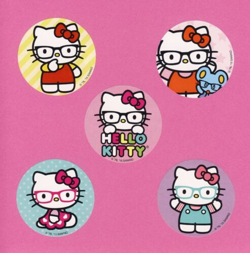 15 Hello Kitty Glasses Large Stickers Party Favors Cat