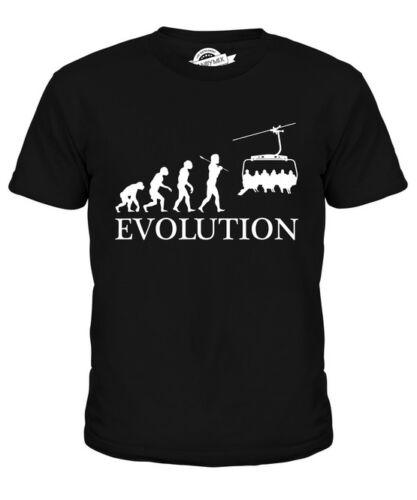 SEILBAHN EVOLUTION DES MENSCHEN KINDER T-SHIRT TEE JUNGEN MÄDCHEN KLEINKIND
