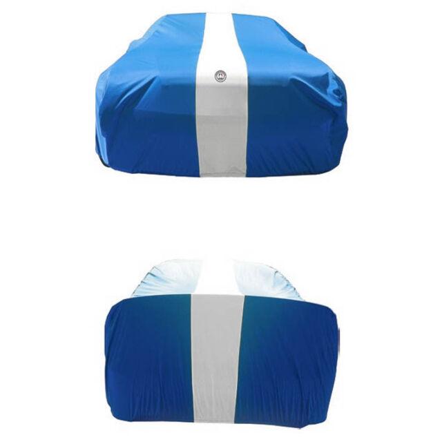 Autotecnica Indoor Show Car Cover BLUE white Stripe BLUE Up To 5.5M - 2/198BU