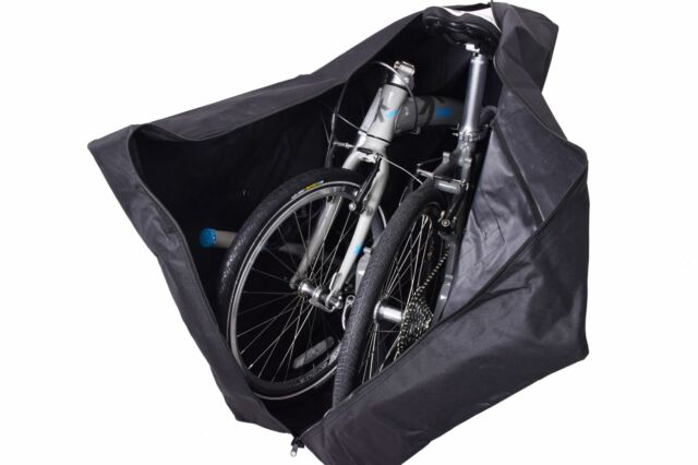 Ammaco Folding Bike Transport Bag Up To 20 Wheel Bikes Black Water Resistant