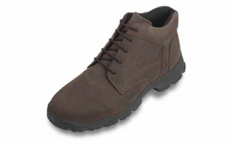 DB SHOES LACE UP LEATHER BOOTS IN NUBUCK BROWN, (4E FIT) EXTRA WIDE