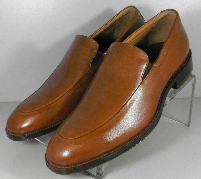 20NP511211 SP50 Men's Shoes Size 9 M Tan Leather Slip On Johnston & Murphy
