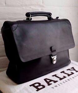 438b655853 AUTHENTIC RARE BALLY  TALVERO  CALF LEATHER LAPTOP BREIFCASE BAG RRP ...