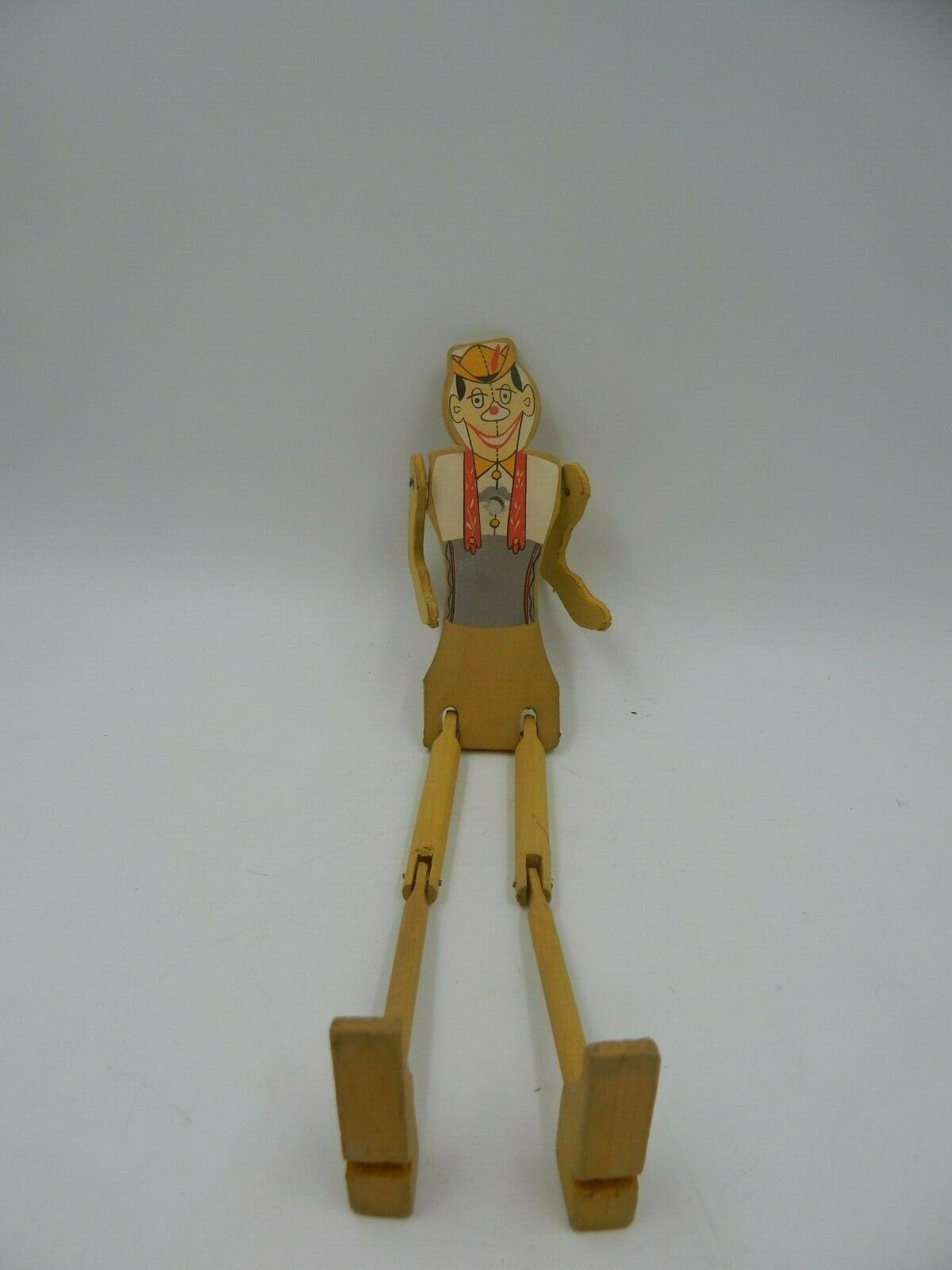 Vintage Wooden Marionette Puppet Toy