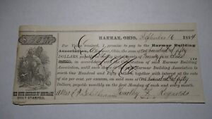 150-1874-Harmar-Ohio-OH-Debt-Scrip-Obsolete-Currency-Bank-Note-Building-Assoc
