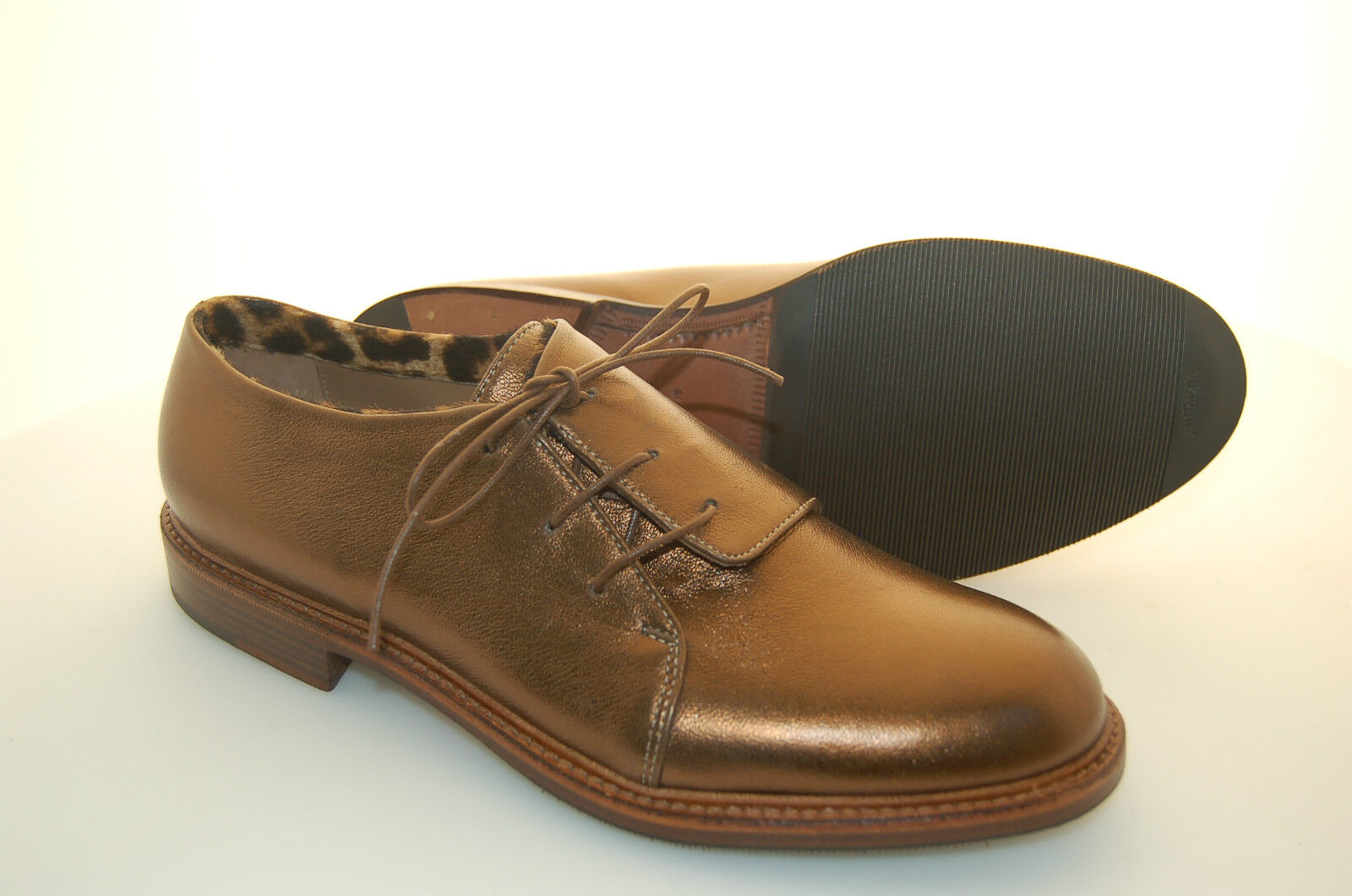 WOMAN - - - damen - DERBY - CALF BRONZE - VITELLO BRONZO - LEATHER SOLE+½RUBBER e2704d