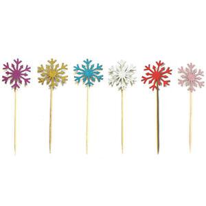 10x-flocons-de-neige-cupcakes-fete-d-039-anniversaire-de-Noel-decoration-gateau