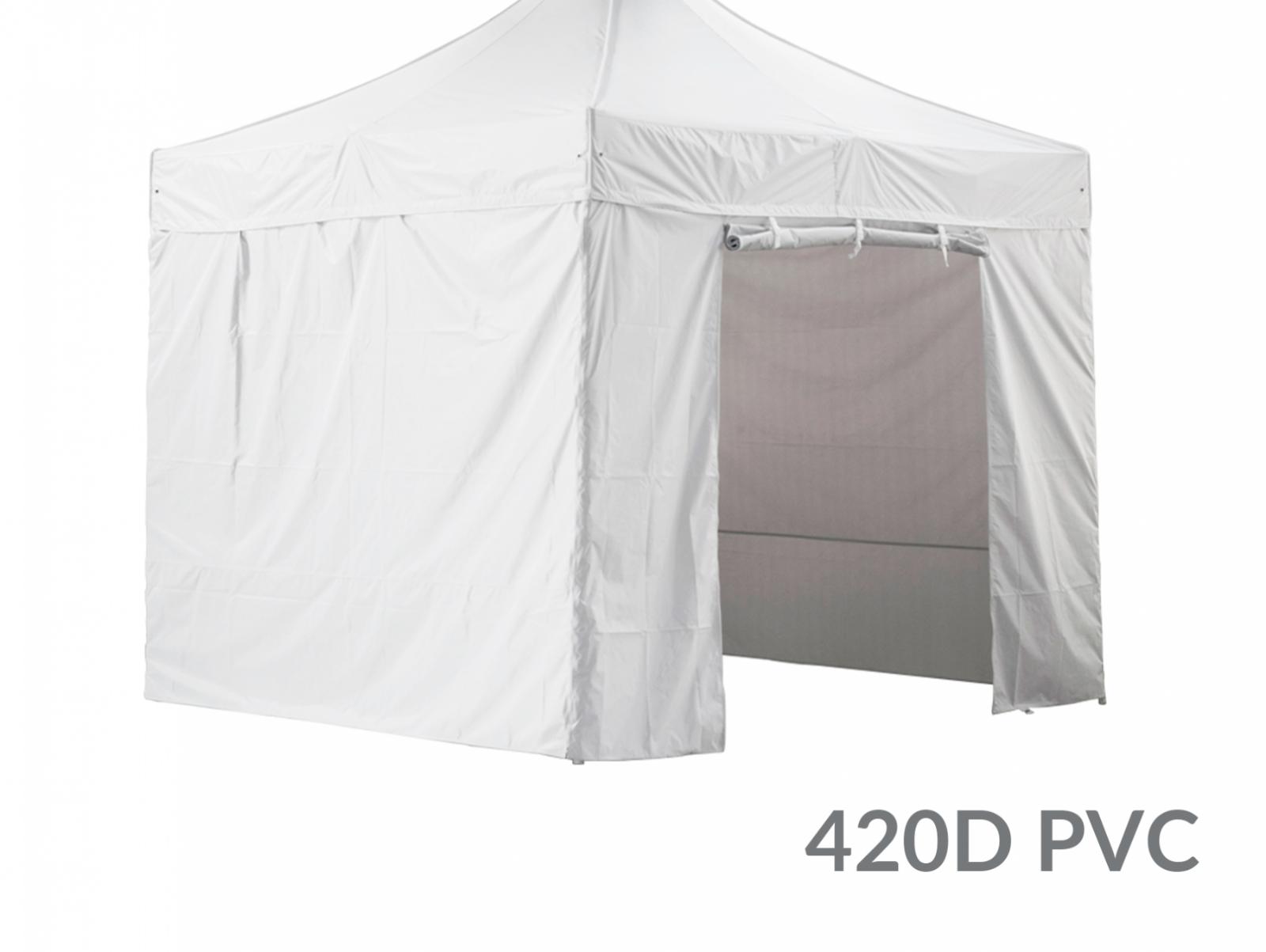 Pack 4 CÔTÉS - 3 Murs Pleins avec Une Porte 420D Polyester ENDUCTION PVC 2X3M