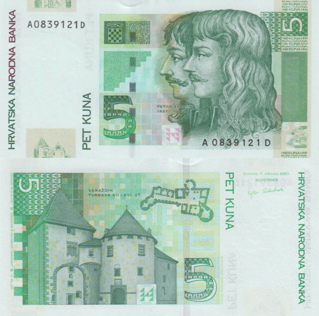 Croatia 5 Kuna (7.3.2001) - p37 UNC