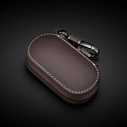 schlüsselanhänger etui schlüsseltasche echt leder autoschlüssel für Benz Kaffee