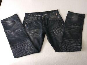 Live-Mechanics-size-36-Cotton-100-3-back-pockets-each-side-Men-039-s-Jeans-BEA5