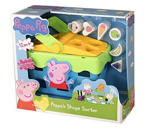 New Peppa Pig Shape Sorter Picnic Set Which Peppa Theme Tune /& Sound