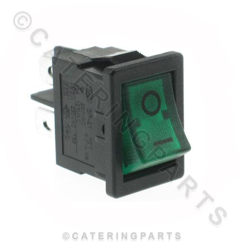 SW44 PICCOLO RETTANGOLO UNIVERSALE Verde Illuminato Rocker Interruttore O//I 19 mm x 13 mm