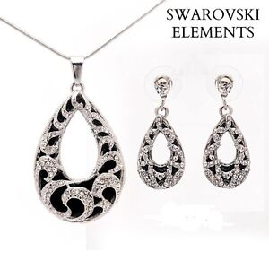 collier-boucles-pendentif-ovale-Swarovski-Elements-leopard-chaine-argent-925