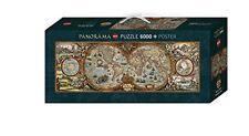NEUWERTIG: Heye 29615 - Rajko Zigic, Hemisphere Map, 6000 Teile Panorama Puzzle