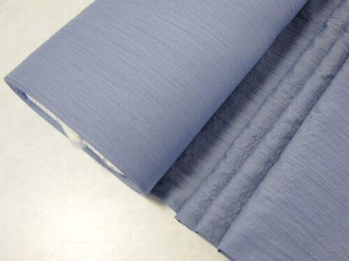 EUR 4,97//m CRINKLE Stoff reine Baumwolle leicht luftig TAUBENBLAU