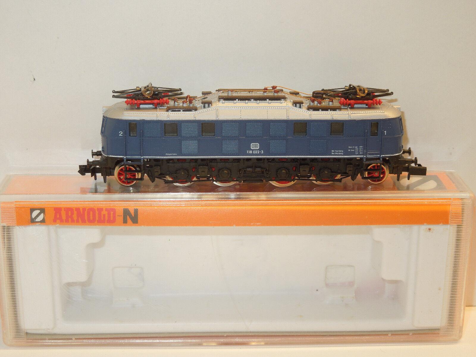 Arnold Spur Spur Spur N 2455 E-Lok BR 118 delle DB BLU 60317d