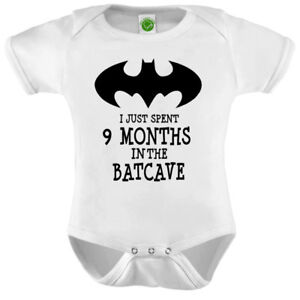 e942991a3 I Just Spent 9 Months In The Batcave Onesie ORGANIC Cotton Romper ...