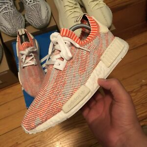 Details about Adidas NMD R1 PK CAMO GLITCH SOLAR RED SHRIMP WHITE SIZE 7.5