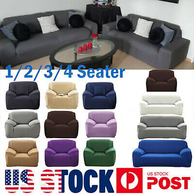 Stretch Chair Sofa Covers Couch Cover Elastic Slipcover Protector 1//2//3//4 Seater