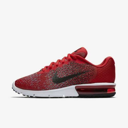 Mens Nike Air Max Sequent Running Shoes Size 9.5 Red Black Grey White 852461 600