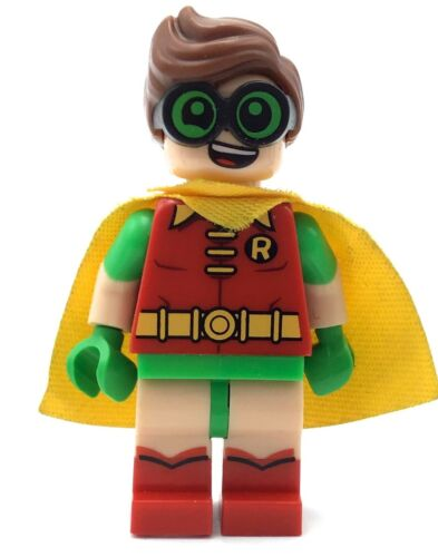 LEGO ROBIN MINIFIGURE SUPER HERO BATMAN AUTHENTIC FIG MOVIE SERIES FIG