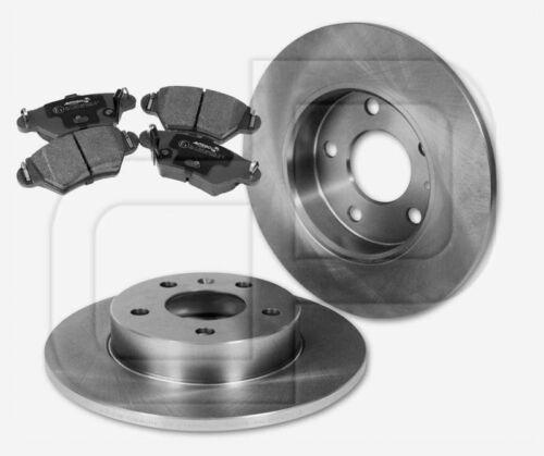 2 Bremsscheiben 4 Bremsbeläge OPEL Astra G 5-Loch für BS Bosch hinten 264 mm