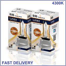 2 x D3S Genuine LUNEX XENON NEW BULB compatible with 66340 9285304244 CM 4300K