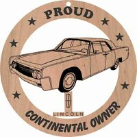 61 Lincoln Continental Wood Ornament Engraved