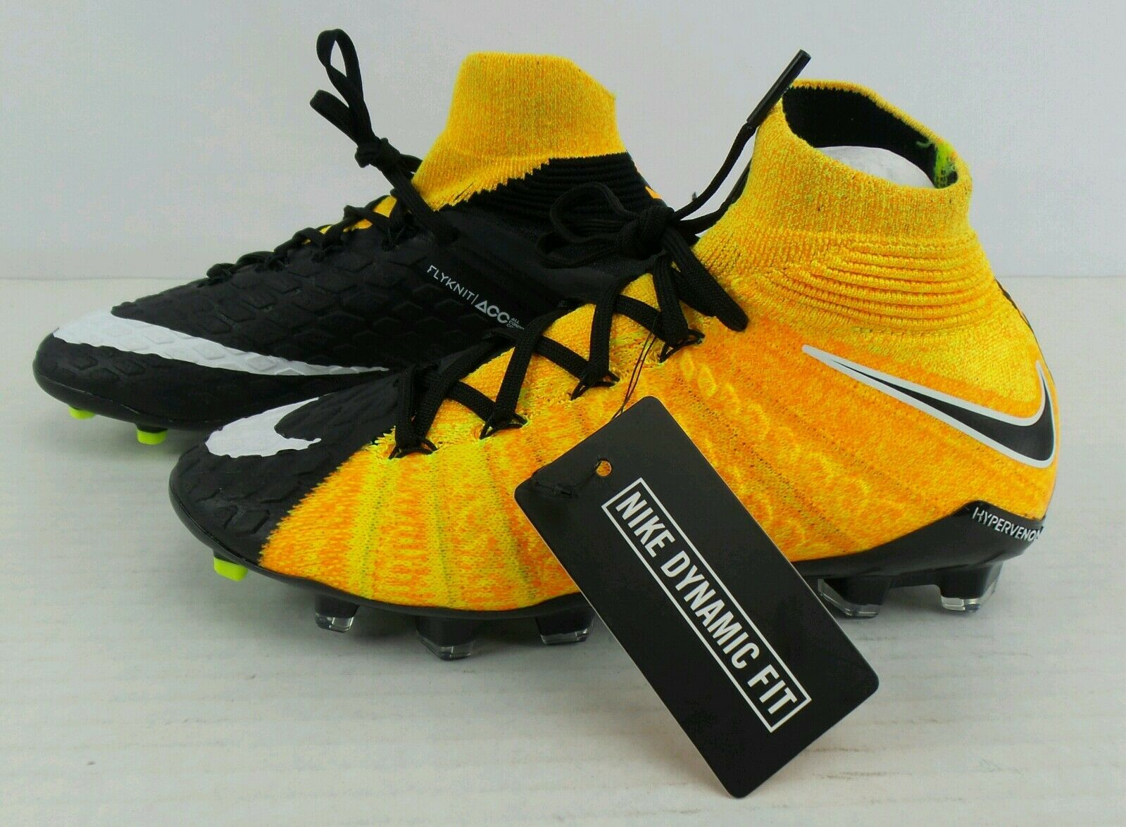 Nuevo Nike Hypervenom Fantasma III DF FG FLYKNIT Acc botín de fútbol Juventud de tamaño 4