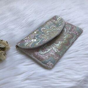 Vintage-Beaded-Purse-Clutch-Pastel-Fairy-Kei-Kawaii-Womens-GUC-Handbag