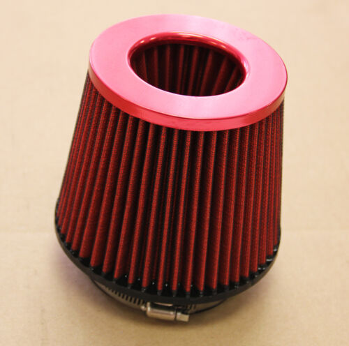 4/'/' INLET TURBO RED//RED AIR FILTER RX7 RX8 MIATA MX5 MAZDASPEED 3 6 PROTEGE