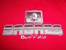 NHL Hockey Rules Buffalo Sabres Red Long Sleeve Shirt - M