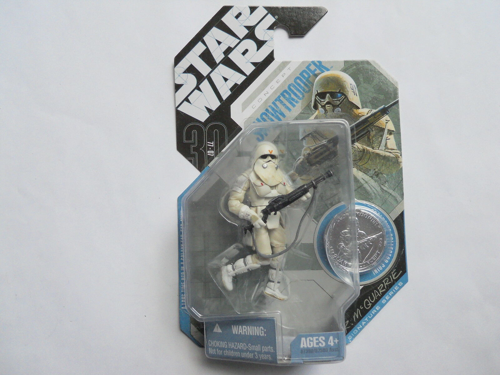 STAR WARS HASBRO FIGURINE   SNOWTROOPER   DEDICATION VERY RARE   POTF MIB