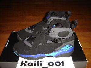 super popular d16d1 6b0ab Image is loading Nike-Air-Jordan-8-Retro-GS-Size-3-