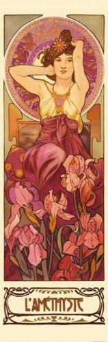 Alphonse Mucha Edelsteine Amethyst Poster Foto-Tapete #125276 250x79cm