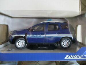 S1804603 SOLIDO Dacia Duster MK2 2018 Gendarmerie 1//18