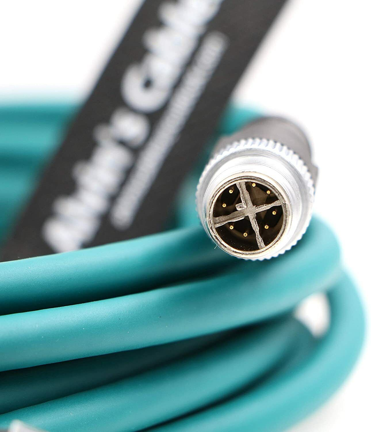 M12 8 Position X Code to RJ45 Industrial Camera Ethernet Cable for Cognex 5M
