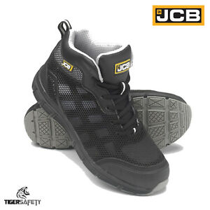 7cf2eb94cd JCB Hydradig S1P Black Lightweight Mid Cut Steel Toe Cap Safety ...